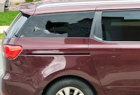 Jen Myrick believes someone smashed the window in her minivan, parked by her Halifax home, because of her Ontario plates.