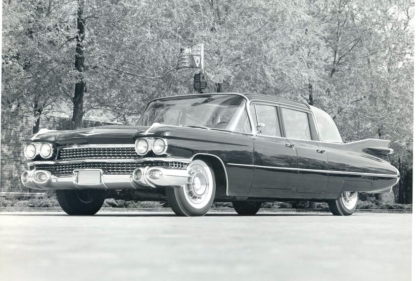 The 1959 75 Series Cadillac Fleetwood limousine.  Courtesy of the Jean-Michel Roux collection