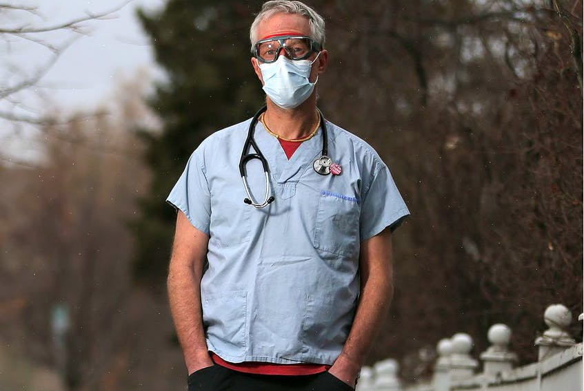 Calgary ER physician Dr. Joe Vipond is on the front lines of Calgary's effort to deal with the COVID-19 pandemic. He was photographed on Tuesday, April 7, 2020.