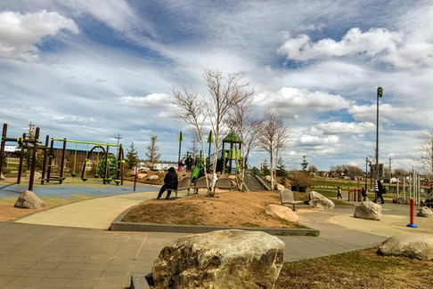 Families enjoy a sunny day at Open Hearth Park in Sydney, N.S. JESSICA SMITH/CAPE BRETON POST