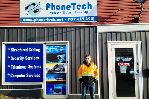 Phone-Tech, owned by Steve Churchill, pictured, is a telecommunications business based in Corner Brook and has technicians all across the island of Newfoundland. CONTRIBUTED