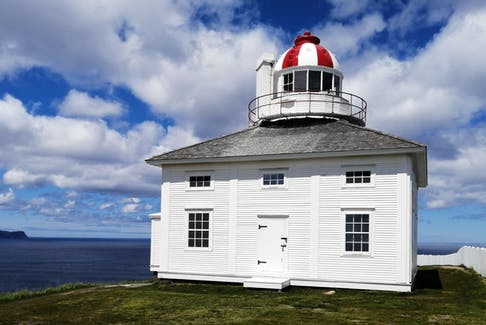 """Nice patches of blue sky imply clearing is on the way – at least according to Grandma. Grandma never got a chance to visit our continent's most easterly point, or the historic Cape Spear Lighthouse perched on the cliff.  I had the pleasure a couple of summers ago; it was quite a feeling to stand there in the wind.   Did you know: """"If you stand there with your back to the sea, the entire population of North America stretches out in front of you. And there's nothing behind you until Ireland""""."""