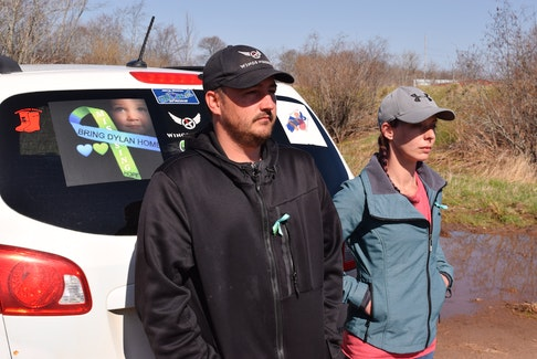 Jason Ehler, left, and Ashley Brown have been searching for their boy Dylan since he disappeared a year ago on May 6.