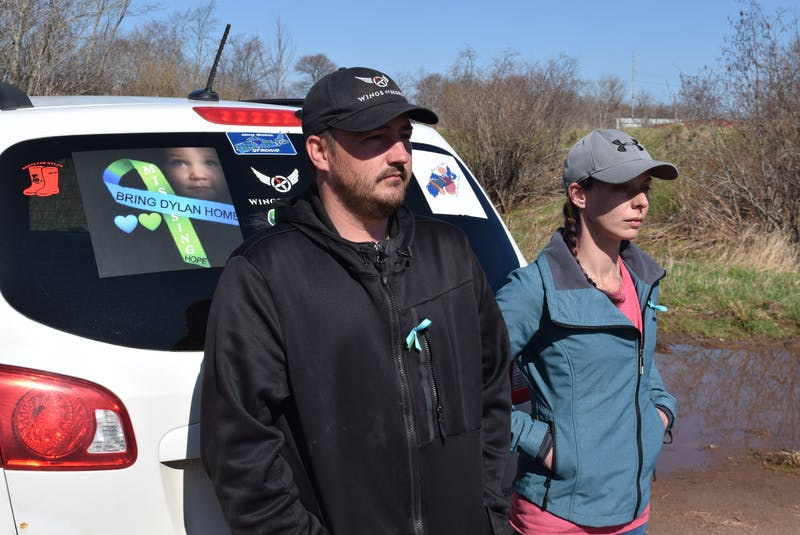 Jason Ehler, left, and Ashley Brown have been searching for their boy Dylan since he disappeared a year ago on May 6. - Chelsey Gould