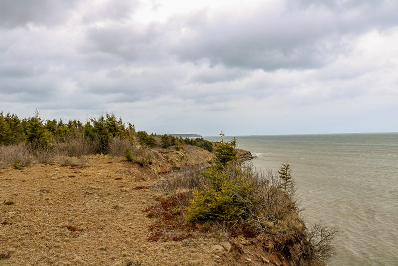 The view from the cliffs on Eleanor Peach Gallant and Ken Sutton's property in Port Morien. JESSICA SMITH • CAPE BRETON POST