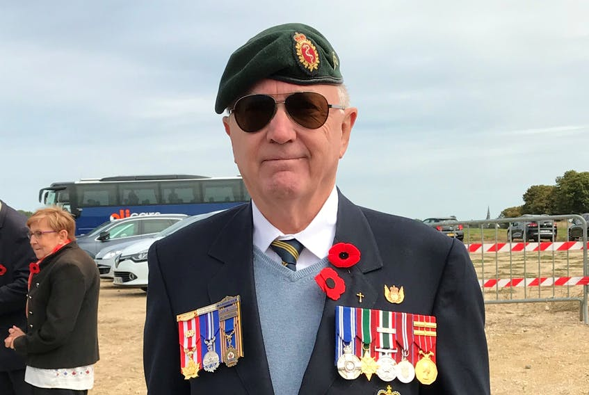 Dr. Marc Dauphin, Canada's former top military doc in Kandahar, near the village of Chérisy in France where he attended the 100th Anniversary of the tragic battle where the Royal 22nd Regiment suffered heavy losses during the last 100 Days of the First World War. - Photo submitted