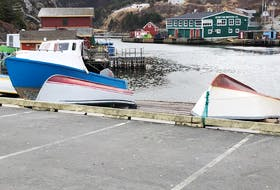 After running some errands last Saturday, Harold Sheppard decided to drive down to Quidi Vidi Village, N.L., and take a walk. He shared several photos of his day with me, including this photo of some boats hauled up on a slipway.  Thank you for sharing your day with us, Harold.
