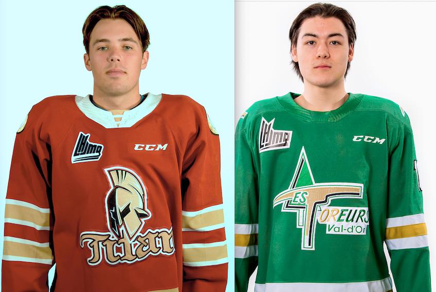 Bennett MacArthur, left, and Jordan Spence are Quebec Major Junior Hockey League players.