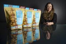Sheena Russell, founder and CEO of Made with Local, poses for a photo at her downtown Dartmouth office on Monday, April 26, 2021. Costco is carrying Made with Local's Granola Bar Mix at most of its locations in eastern Canada.