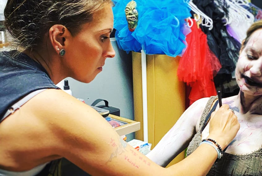 """Jaimie Peerless has always been an artist. She's passionate about what she calls """"living art"""" - using make-up and special effects on a human canvas."""