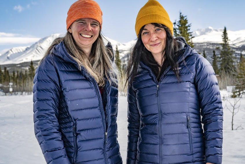 Pascale Marceau, left, and Eva Capozzola have become the first all-women team to reach the peak of Mt. Lucania