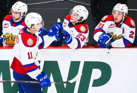 Dylan Guenther (11) of the Edmonton Oil Kings is currently in Texas for the International Ice Hockey Federation U-18 world championships.