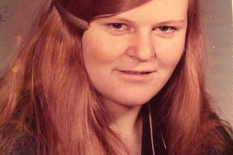 One of the few pictures of Belinda Woods as a young teenager, after running away from home. - Contributed