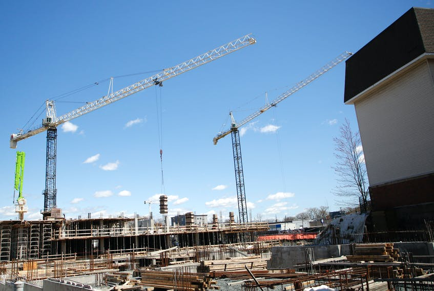 FOR MUNRO STORY: Construction site at 6070 Almon Street in Halifax Wednesday April 28, 2021.