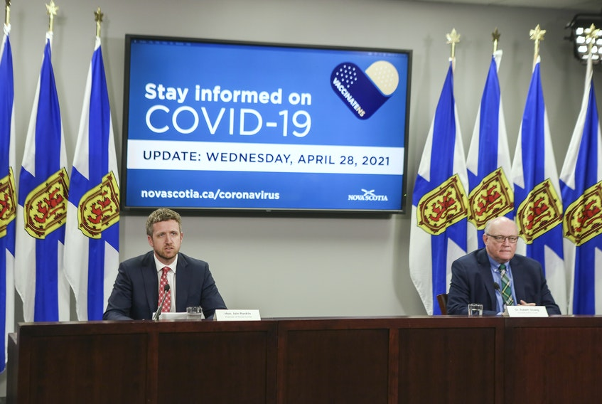 Premier Iain Rankin and Dr. Robert Strang, Nova Scotia's chief medical officer of health, announced Wednesday that people aged 40 to 54 will be included in the group eligible for the AstraZeneca vaccine in the province.