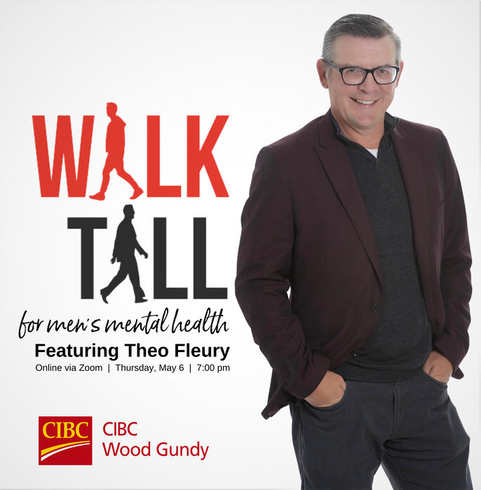 The logo promoting the Walk Tall for Men's Mental Health event featuring Theo Fleury. - Contributed