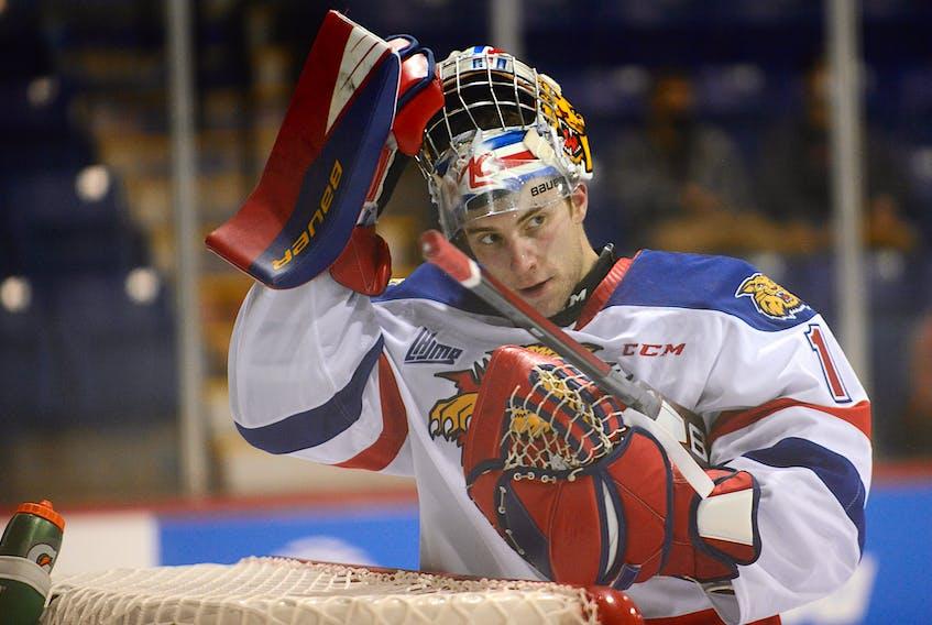 Moncton Wildcats goalie Dakota Lund-Cornish is in his final season of junior hockey.