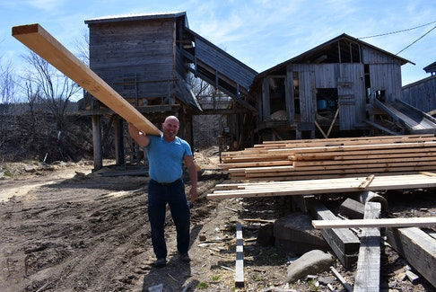 Gary Levy started doing odd jobs at his family's lumber mill along the Gaspereau River Road when he was just a boy. – Ashley Thompson