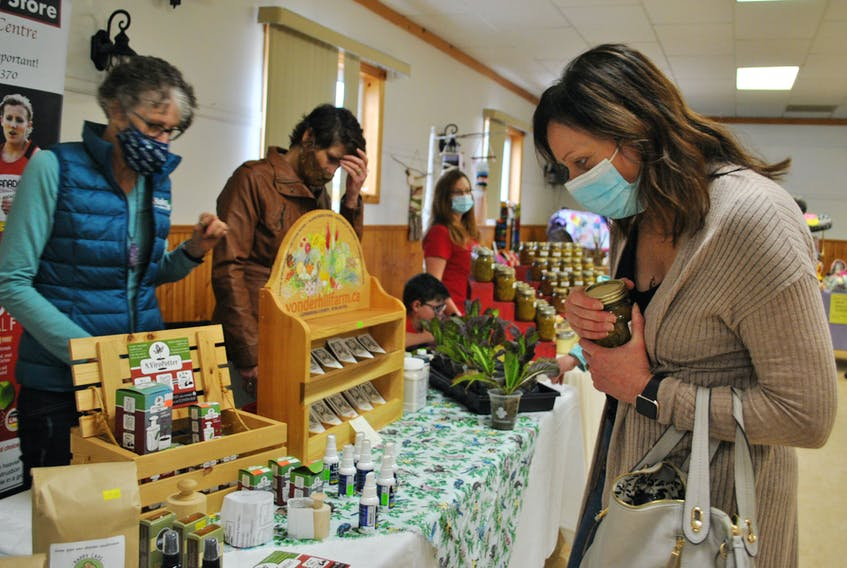 A small vendor's market at the Simple East Coast Living Fair at the Barrington Area Lions Hall on April 17 featured many local wares.