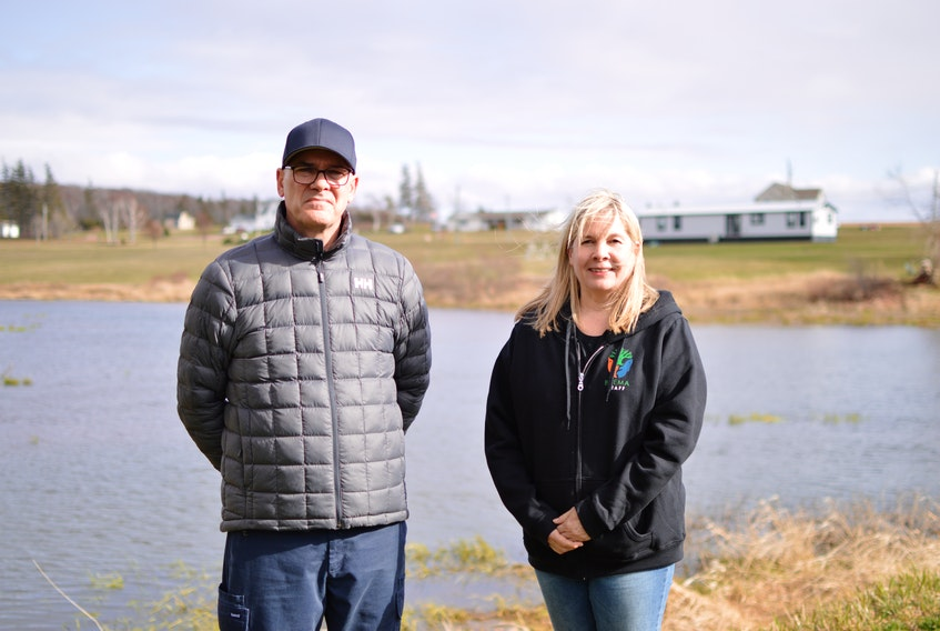 Stephen Marchbank, the self-appointed caretaker of the Marchbank family's Marchbank Pond, and the Bedeque Bay Environmental Management Association exectutive director Tracy Brown are spearheading the effort to restore the pond. It's one of the few historic mill pond's on the Island.