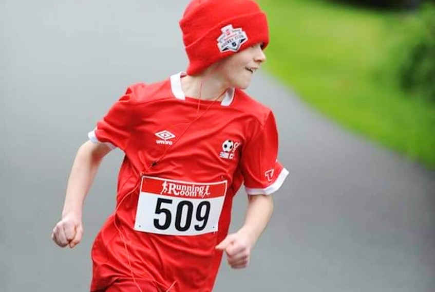 Carbonear 11-year-old Tristan Jenkins is running 50 kilometres in the month of May for the Million Reasons Run in aid of the Janeway Children's Hospitals in St. John's.