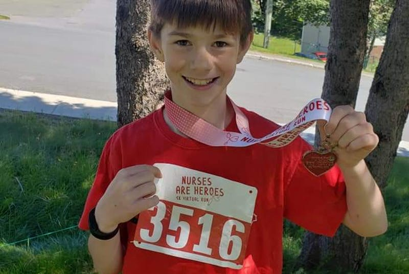 Running has become a great outlet for Tristan Jenkins since he started running in Grade 3. - Contributed