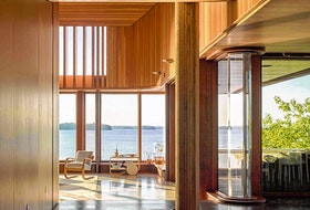 Point William property that took two decades to complete. Designed by Toronto's Shim-Sutcliffe Architects.