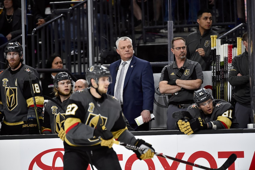 Mike Kelly was an assistant coach with the NHL's Vegas Golden Knights under Summerside native Gerard (Turk) Gallant from 2017-20. - Las Vegas Knights • Special to The Guardian