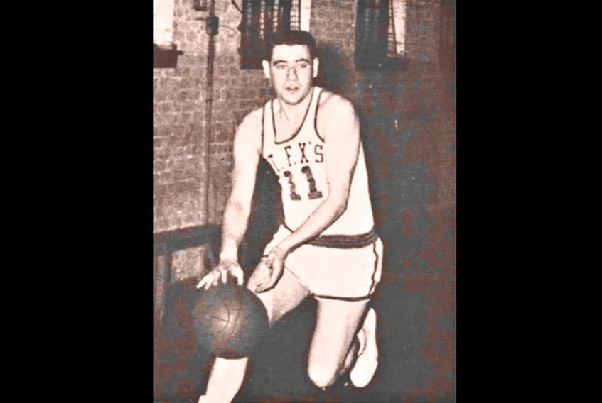 Karl Marsh of New Waterford, shown playing for St. Francis Xavier University in Antigonish, was known as an all-round athlete, coach, sports historian and artist. Marsh, a longtime staple in the town's sports community, died Thursday after a short battle with cancer. He was 84. CONTRIBUTED