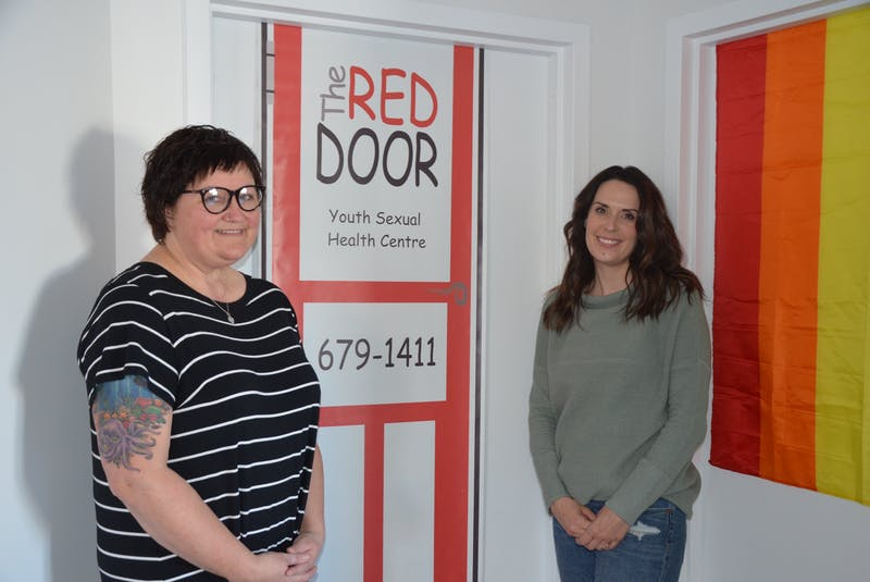 Nurse Michelle Maillet and office manager Erin Eavis at The Red Door's new location, upstairs in the Town Square building on Webster Street in Kentville. - Kirk Starratt