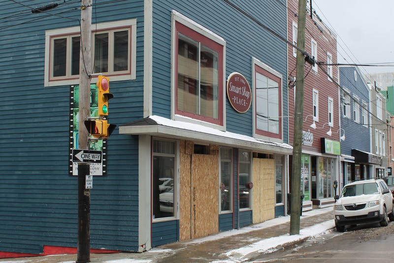 The Balyan group is finishing up renovations on the Smart Shop Place building on Charlotte Street in Sydney. A food court is part of plans for the building. It is expected to open this summer. GREG MCNEIL/CAPE BRETON POST