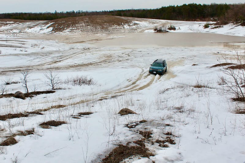 """The Bronco Sport's terrain management system is dubbed GOAT (""""Goes Over Any type of Terrain""""). Clayton Seams/Postmedia News - POSTMEDIA"""