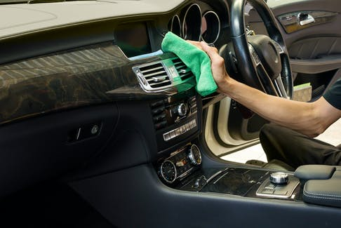 Clean up the vehicle thoroughly whenprepping your car for trade-in. 123rf stock photo
