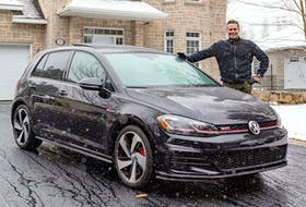 Raymond Oesterreich and his Volkswagen GTI in Saint-Lazare, Que. Dave Sidaway/Postmedia News