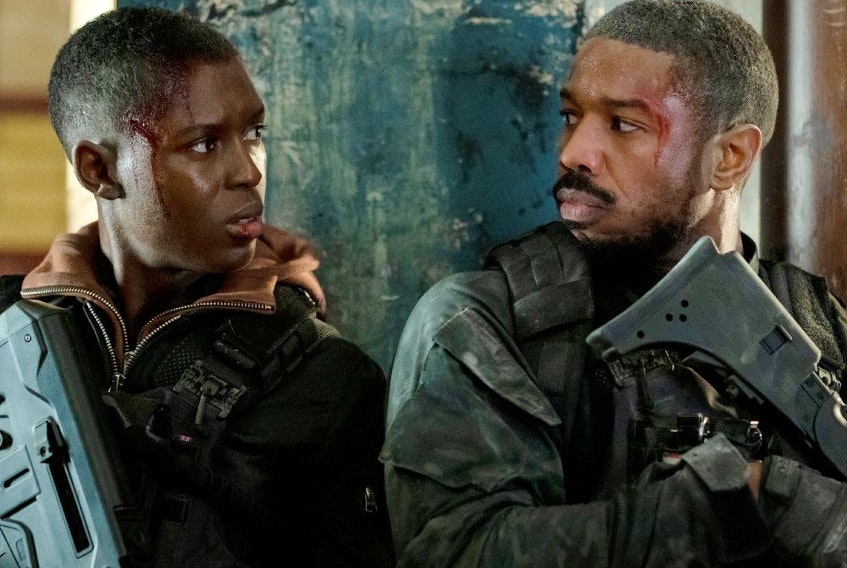 Michael B. Jordan gets a little help from Jodie-Turner Smith in Without Remorse.