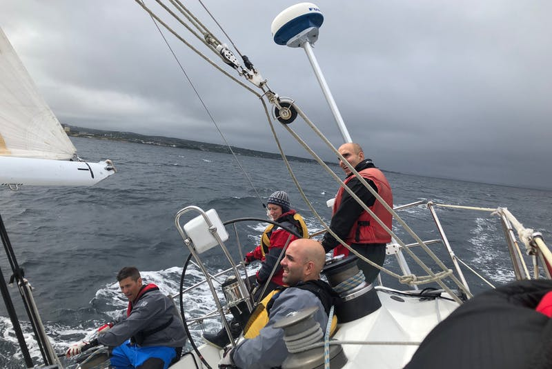 Justin Ladha, far right, still considers the family sailboat Shalloway his most treasured possession. — Contributed - Contributed