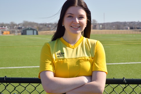 Hannah Livingston has been officiating soccer in Cape Breton for five seasons. The Glace Bay product will return to the pitch this summer. The Cape Breton Soccer Referees Association is in need for new officials and registration for entry-level clinics are currently taking place. JEREMY FRASER/CAPE BRETON POST