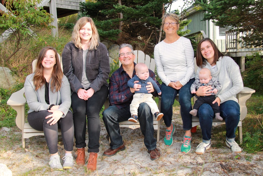 Emily Bennett, Sarah Mackinnon, Reginald Rose, William MacKinnon, Joanne Rose, Hillary Rose and Jack Manion gather for a family photo. The family has recently gone online to raise awareness of Joanne's pressing need for a kidney transplant. - Contributed