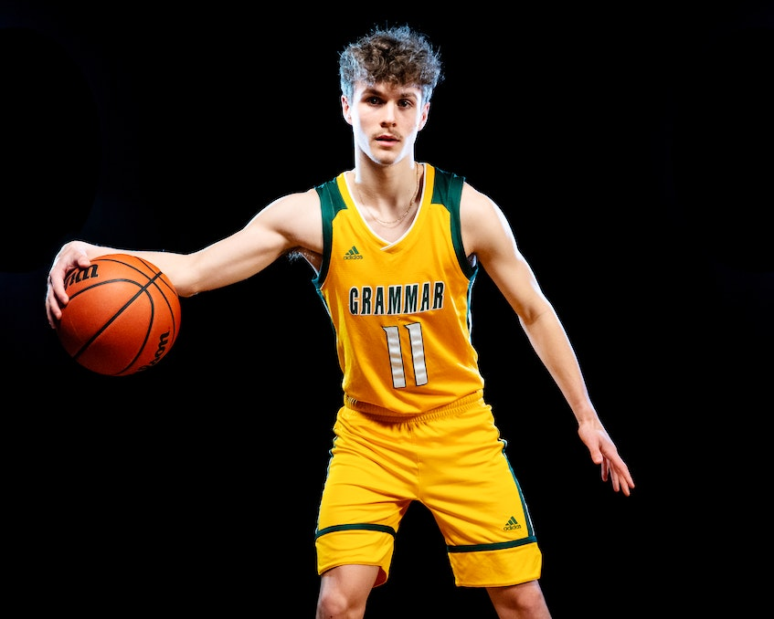 Halifax Grammar School senior guard David Waller. - Tim Beers