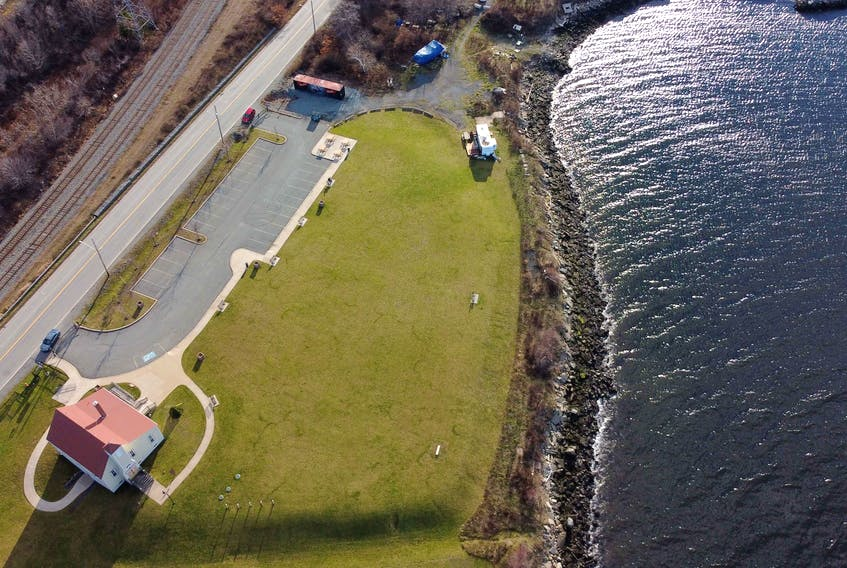 The Africville Museum, bottom left, on the historic Africville lands in Halifax's north end is seen in this file photo.