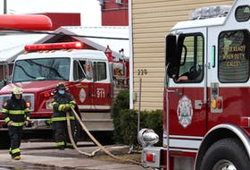 Charlottetown Fire Department responds to an apartment fire on Euston St. early Monday morning.