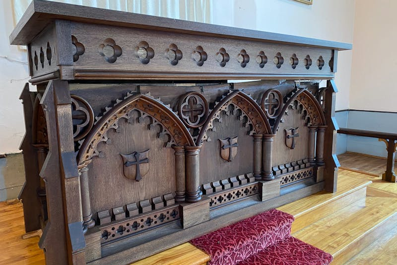 The Saint Stephen's Church altar, built in 1845,  will be dismantled and reassembled at the Holy Trinity hall in Yarmouth for church services. CARLA ALLEN • TRICOUNTY VANGUARD - Carla Allen