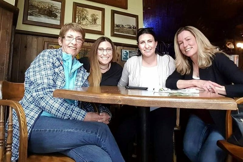 Wendy Spencer is pictured with her daughters Lindsay Maillet, Shawnda Peters and Trina Hartlen.  - Contributed