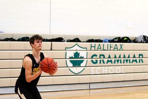 Grade 12 guard David Waller and the Halifax Grammar School Gryphons are the No. 2 seed for the Capital Region basketball championship, which begins this week. - Eric Wynne / The Chronicle Herald