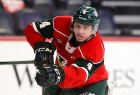 Halifax Mooseheads defenceman Jake Furlong broke his jaw during Thursday's QMJHL game against the Charlottetown Islanders.