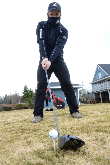 Connor Lea, general manager at the Avondale Golf Course in Vernon River, is excited about the course opening on Thursday. - Jason Malloy • The Guardian