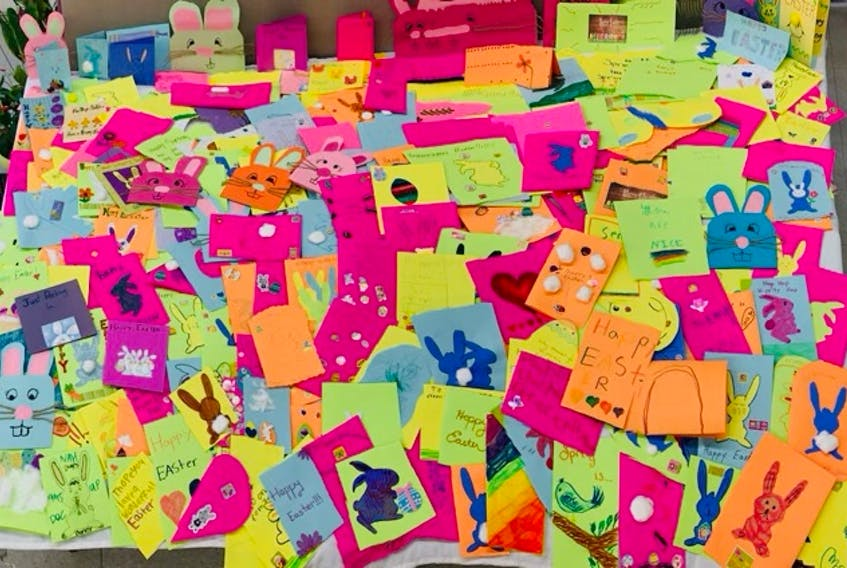 Hundreds of homemade cards were created by Hants County youth and given to seniors living in long-term care homes just in time for Easter.