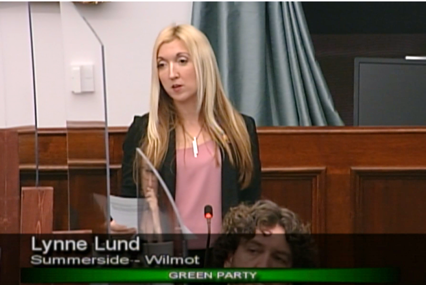 Lynne Lund, Green party, is the MLA for Summerside-Wilmot.