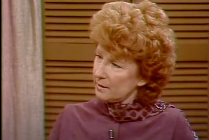 Shirley Newhook interviews a guest on CBC's Coffee Break. — Contributed
