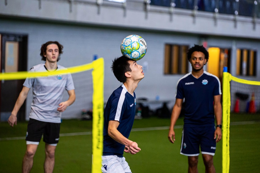 HFX Wanderers players work on their skills during the Canadian Premier League team's training camp at the BMO Soccer Centre in Halifax. - Trevor MacMillan - Contributed
